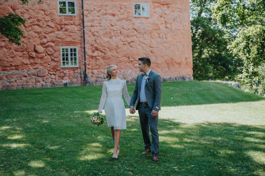 västerås slott, bröllop, brudpar